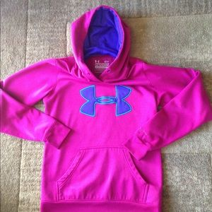 Under Armour pink hoodie size XL